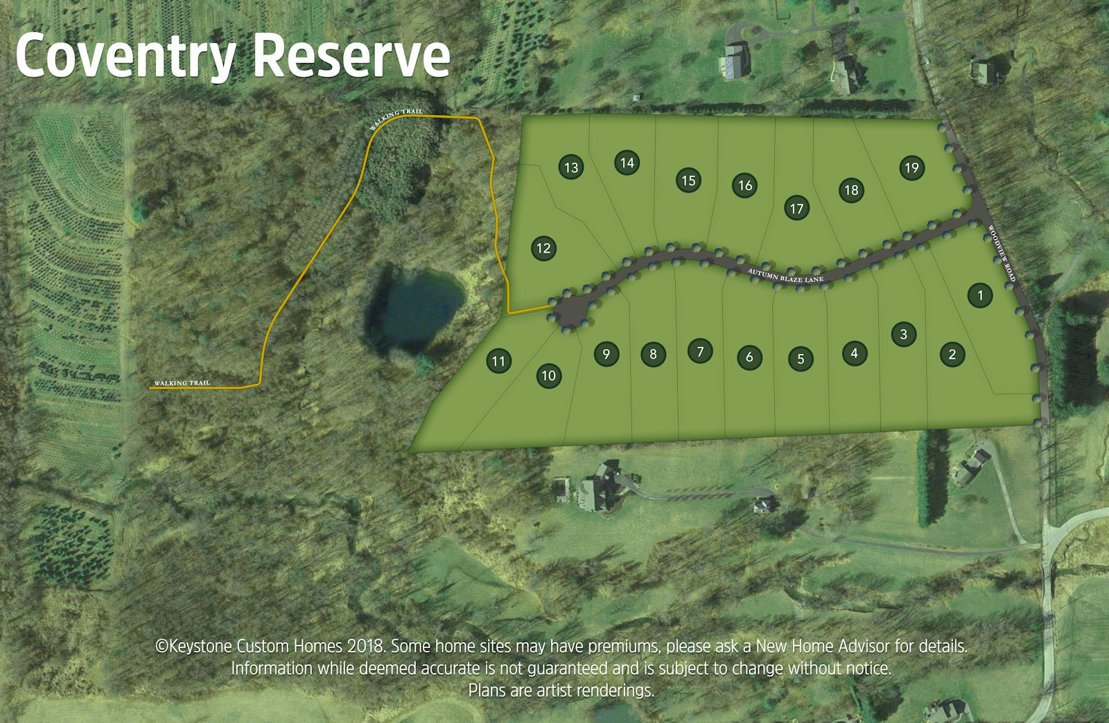 Coventry Reserve Lot Map Background