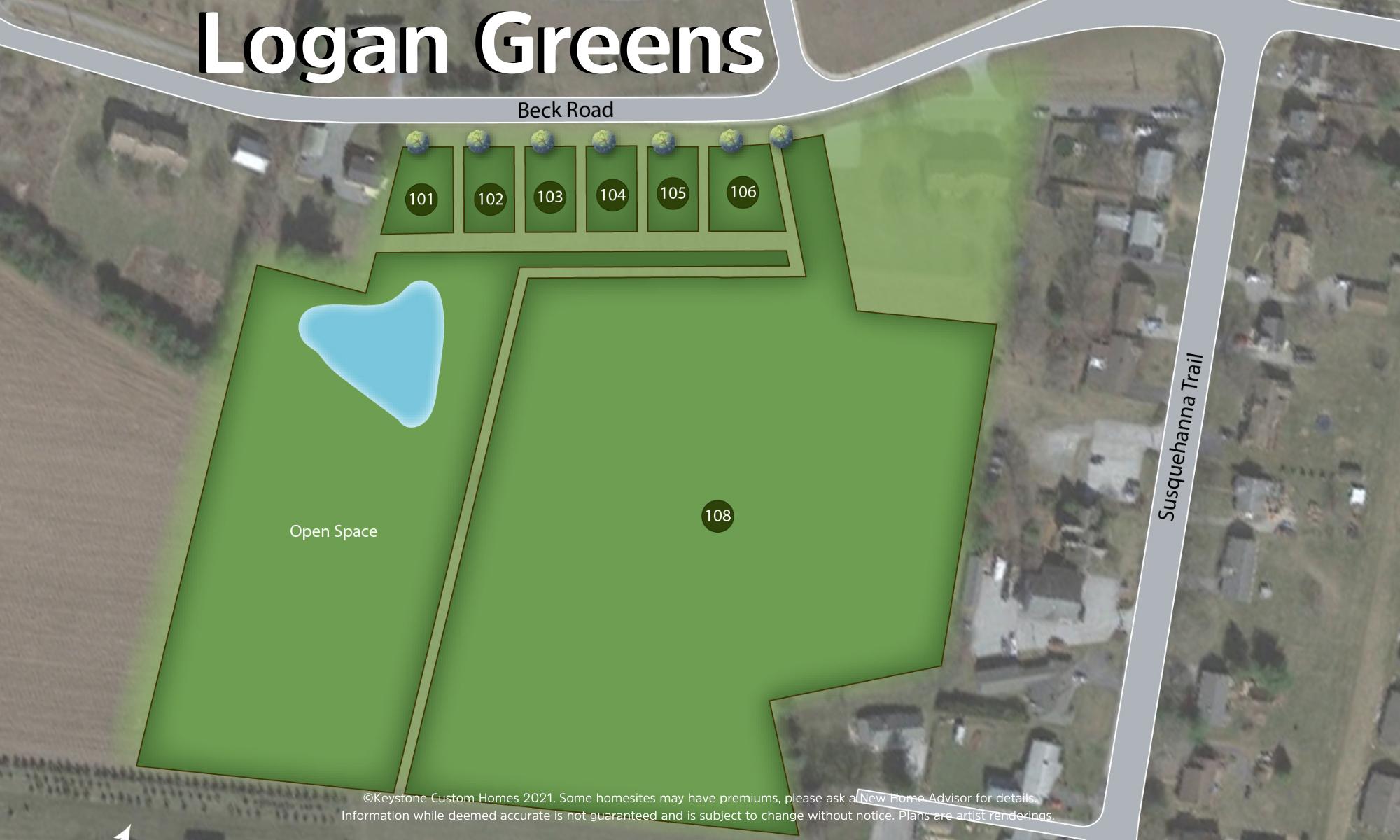 Logan Greens Lot Map Background