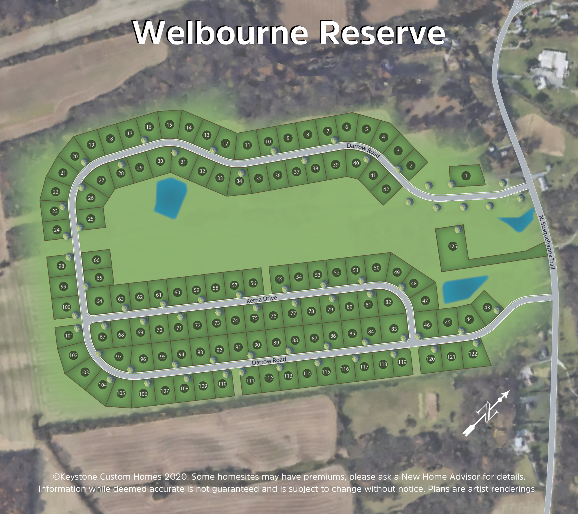 Welbourne Reserve Lot Map Background