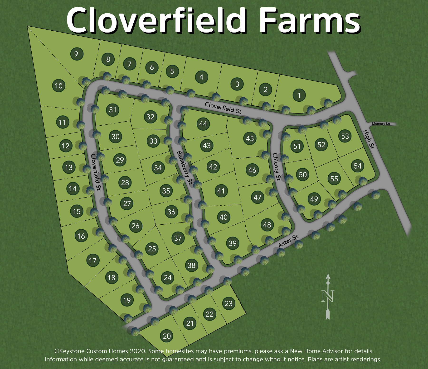 Cloverfield Farms Lot Map Background
