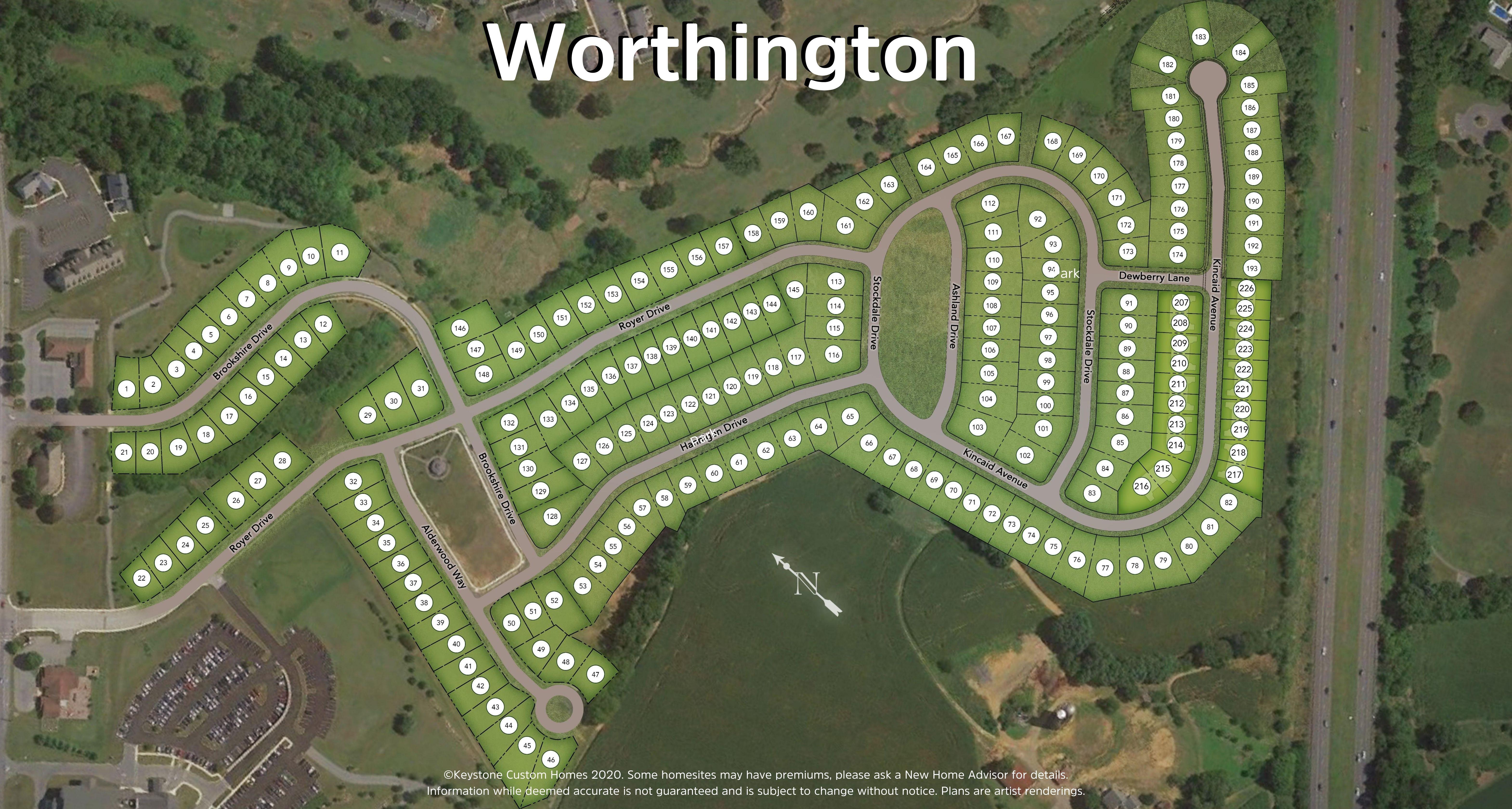 Worthington Lot Map Background