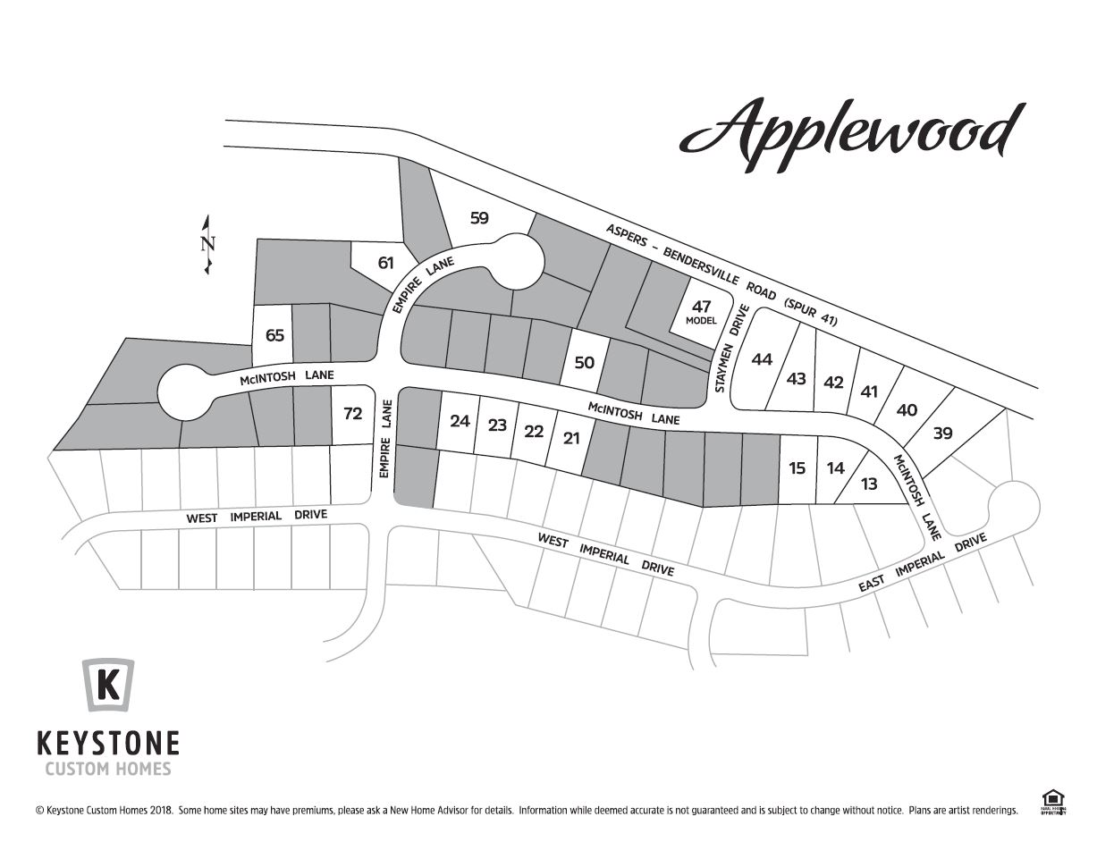 Applewood Lot Map Background
