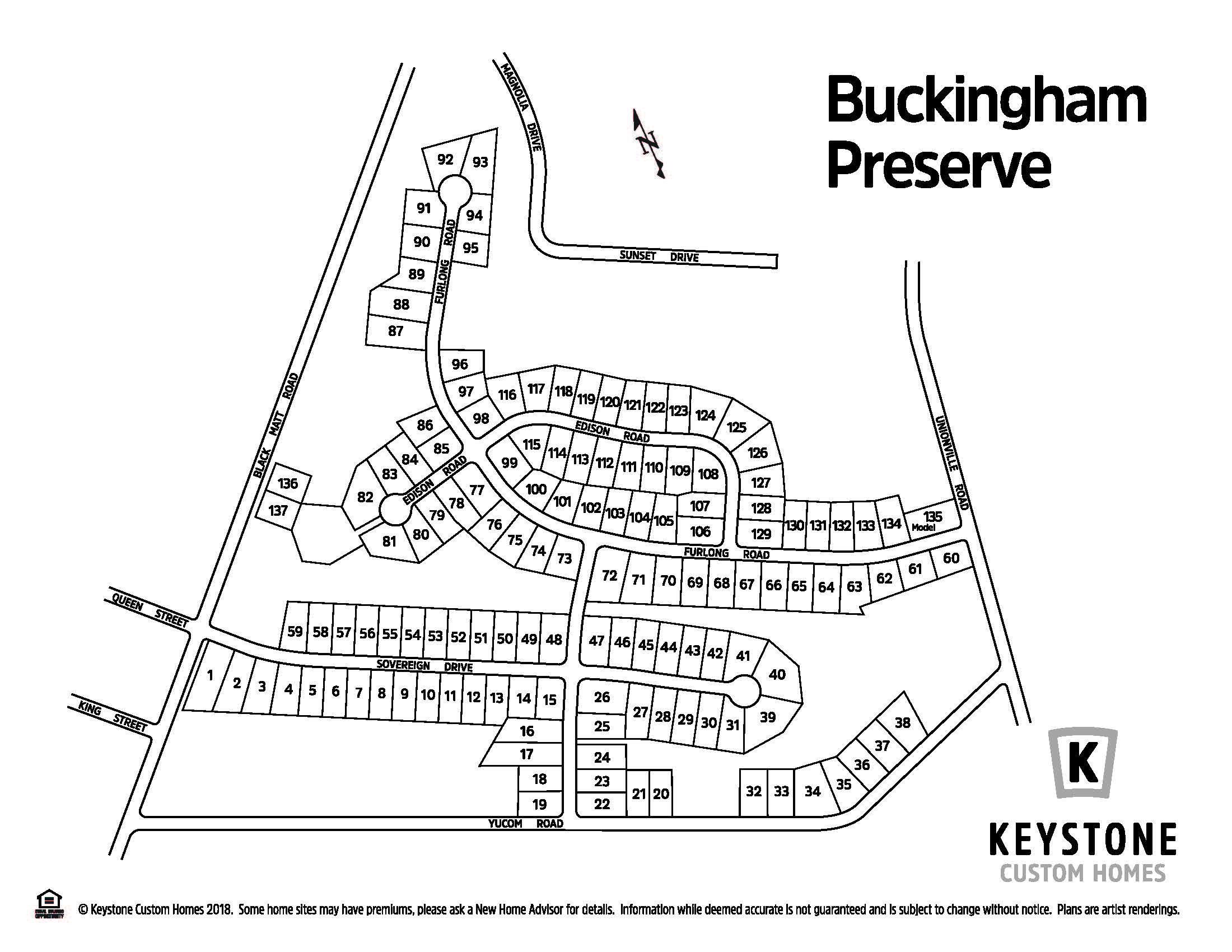 Buckingham Preserve Lot Map Background