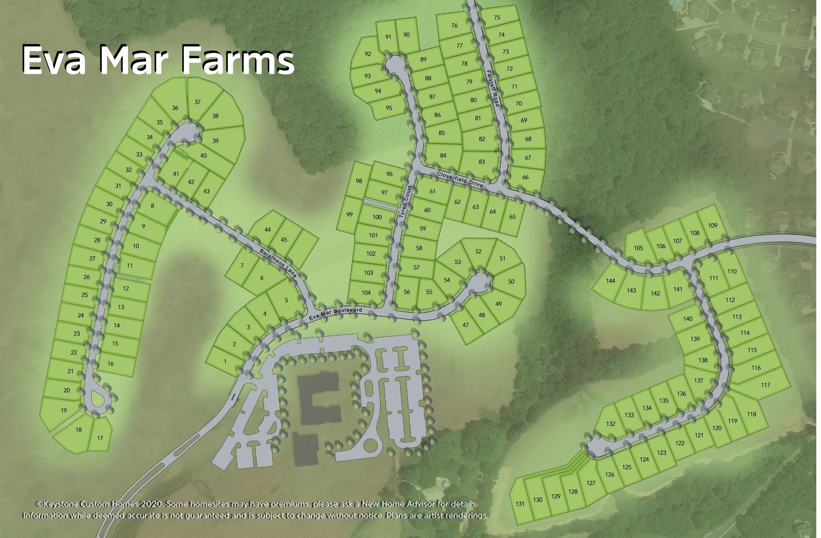 Eva Mar Farms Lot Map Background