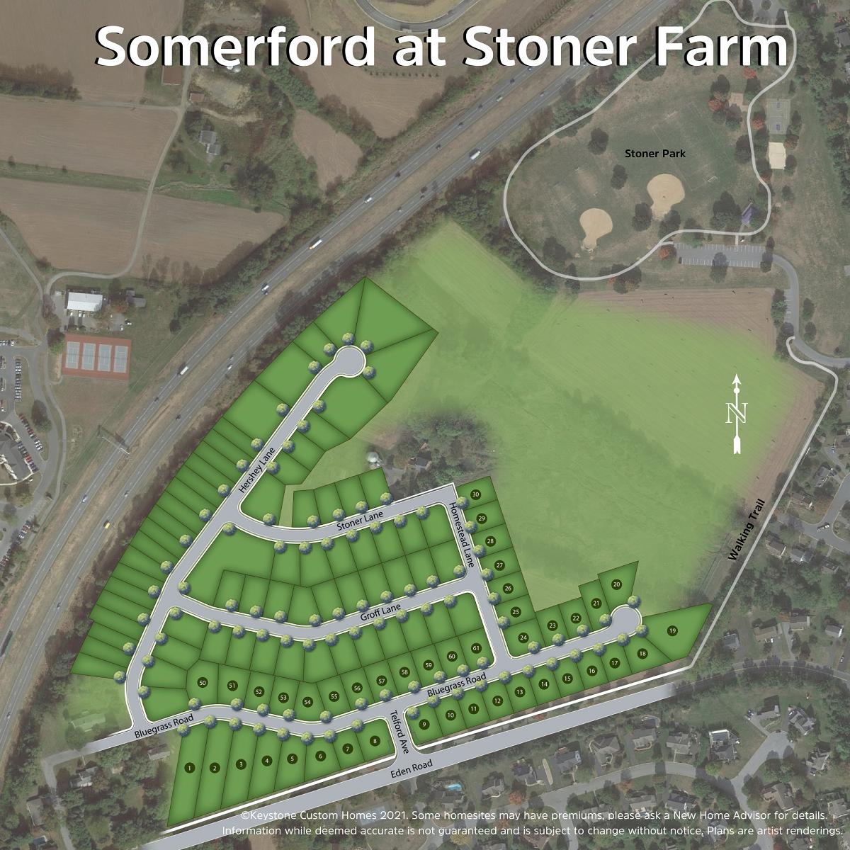 Somerford at Stoner Farm Lot Map Background