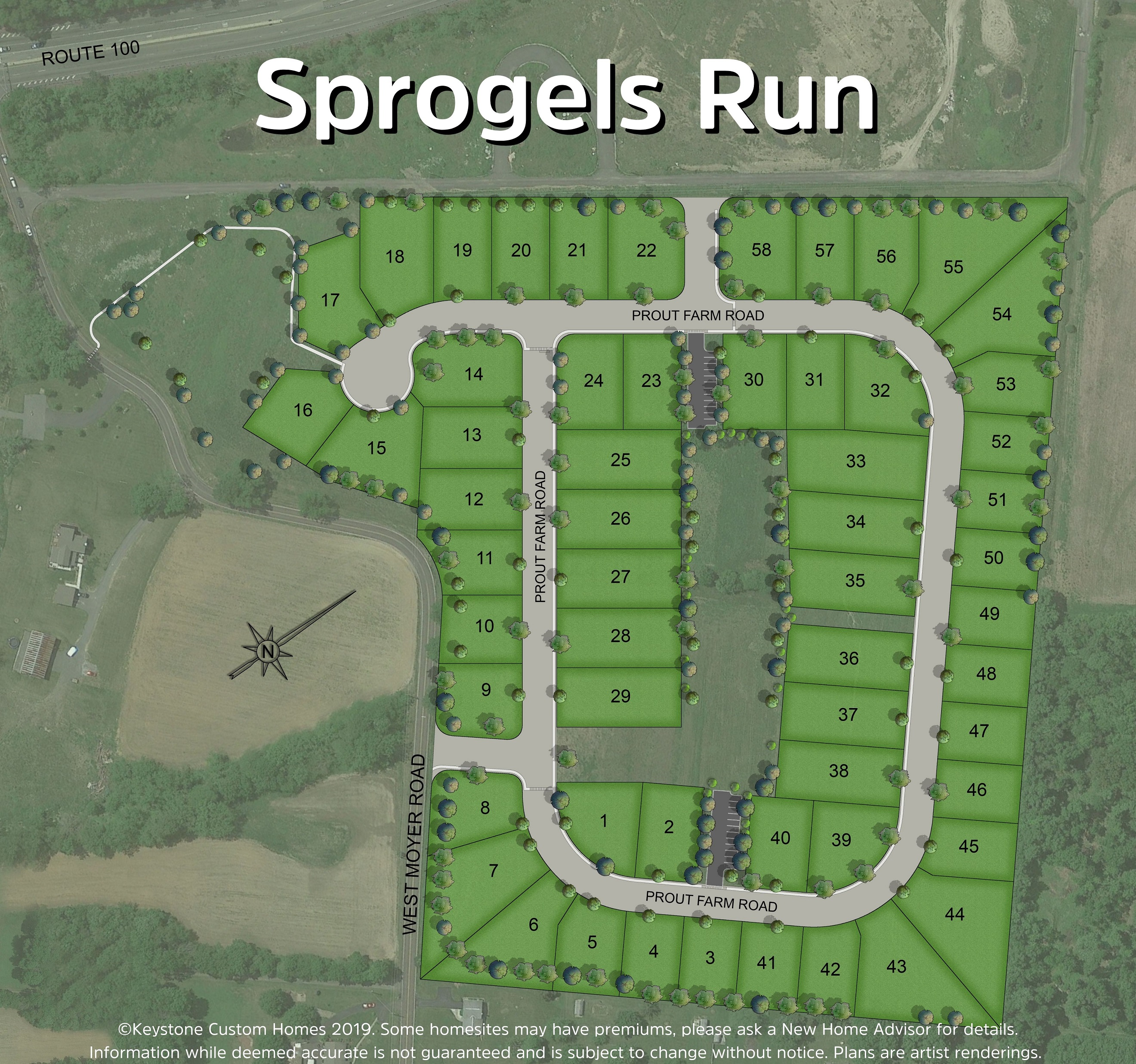 Sprogels Run Lot Map Background