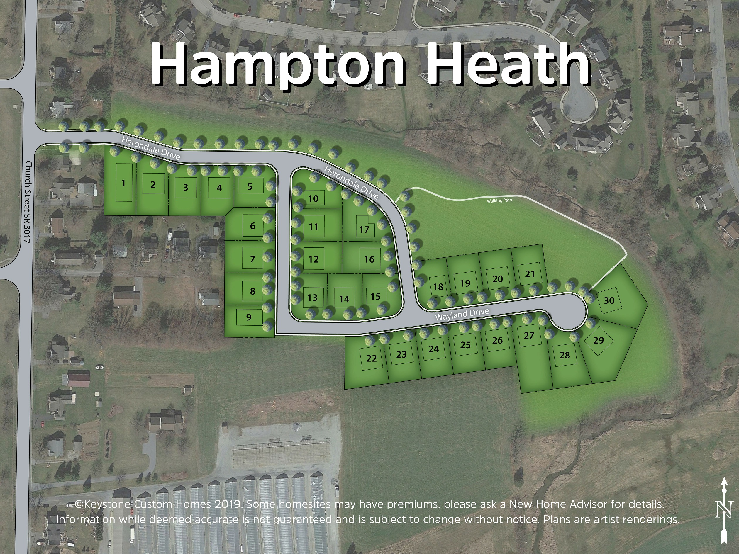 Hampton Heath Lot Map Background