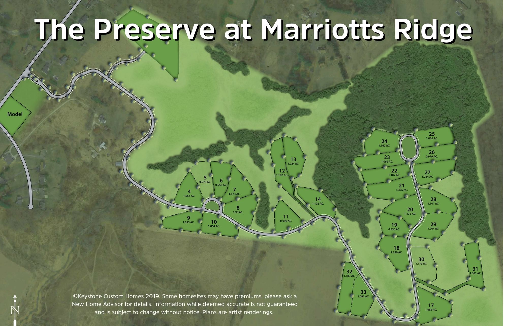 The Preserve at Marriotts Ridge Lot Map Background