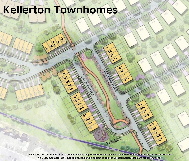 Kellerton Townhomes Lot Map Background