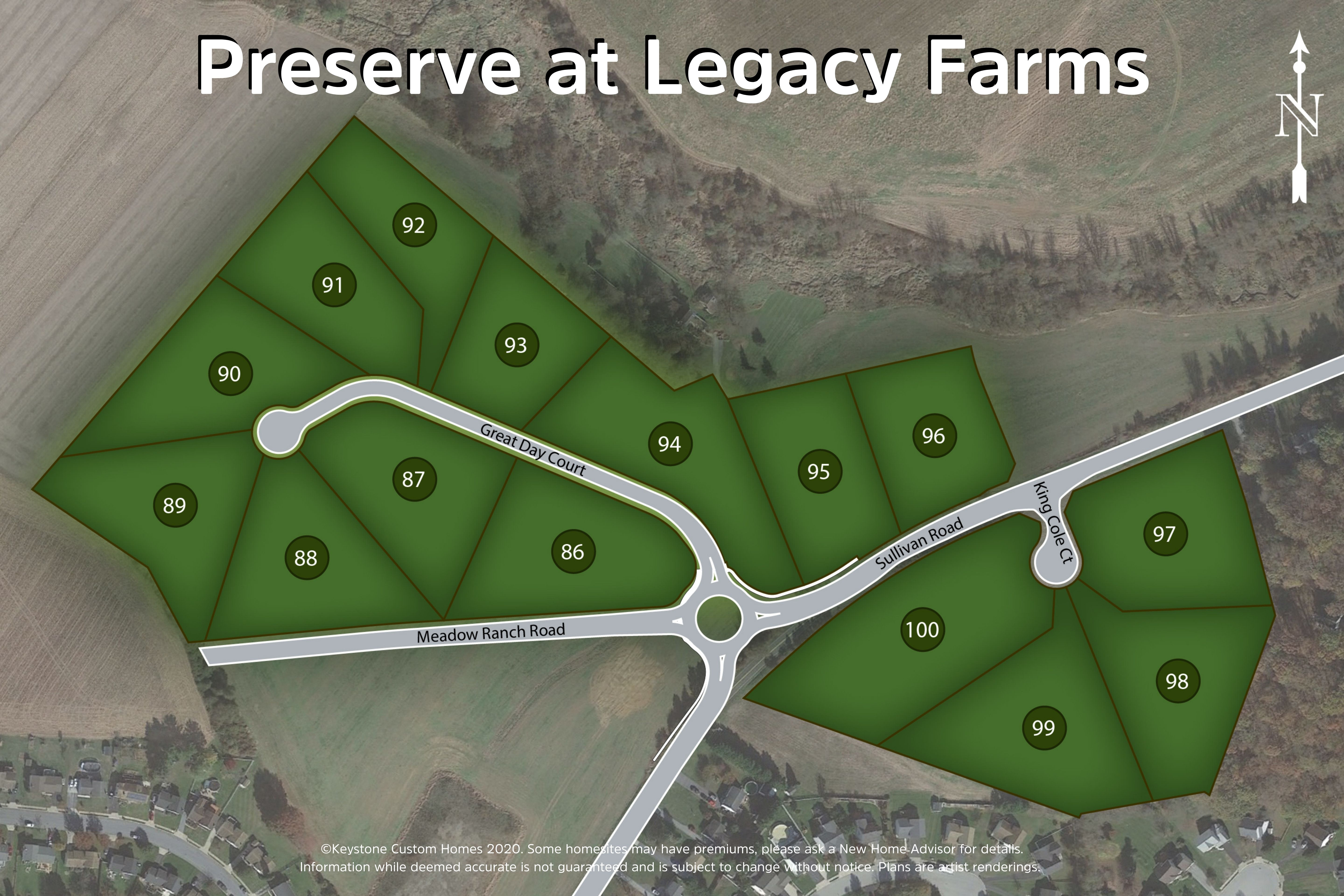 Preserve at Legacy Farms Lot Map Background