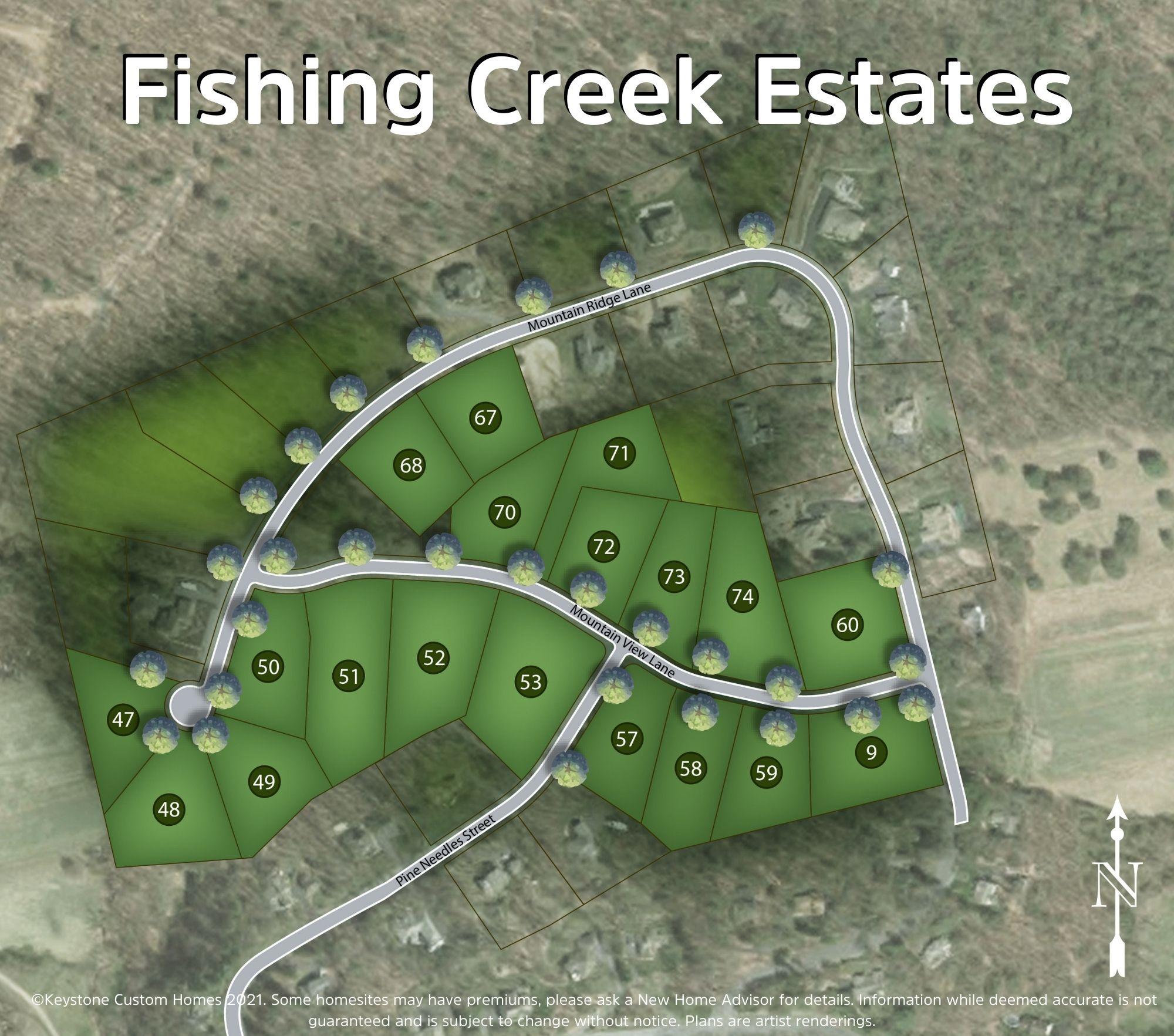 Fishing Creek Estates Lot Map Background