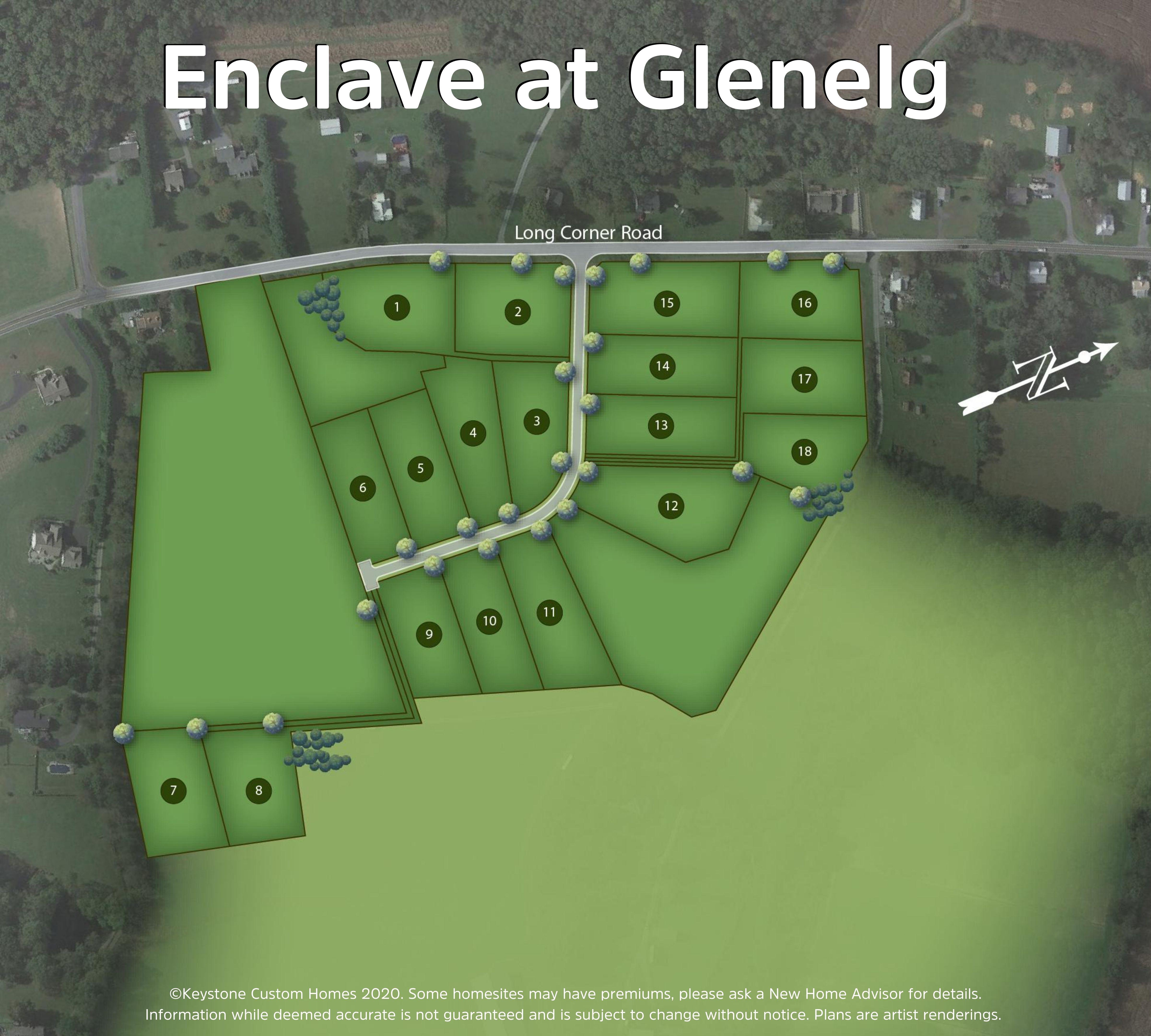 Enclave at Glenelg Lot Map Background