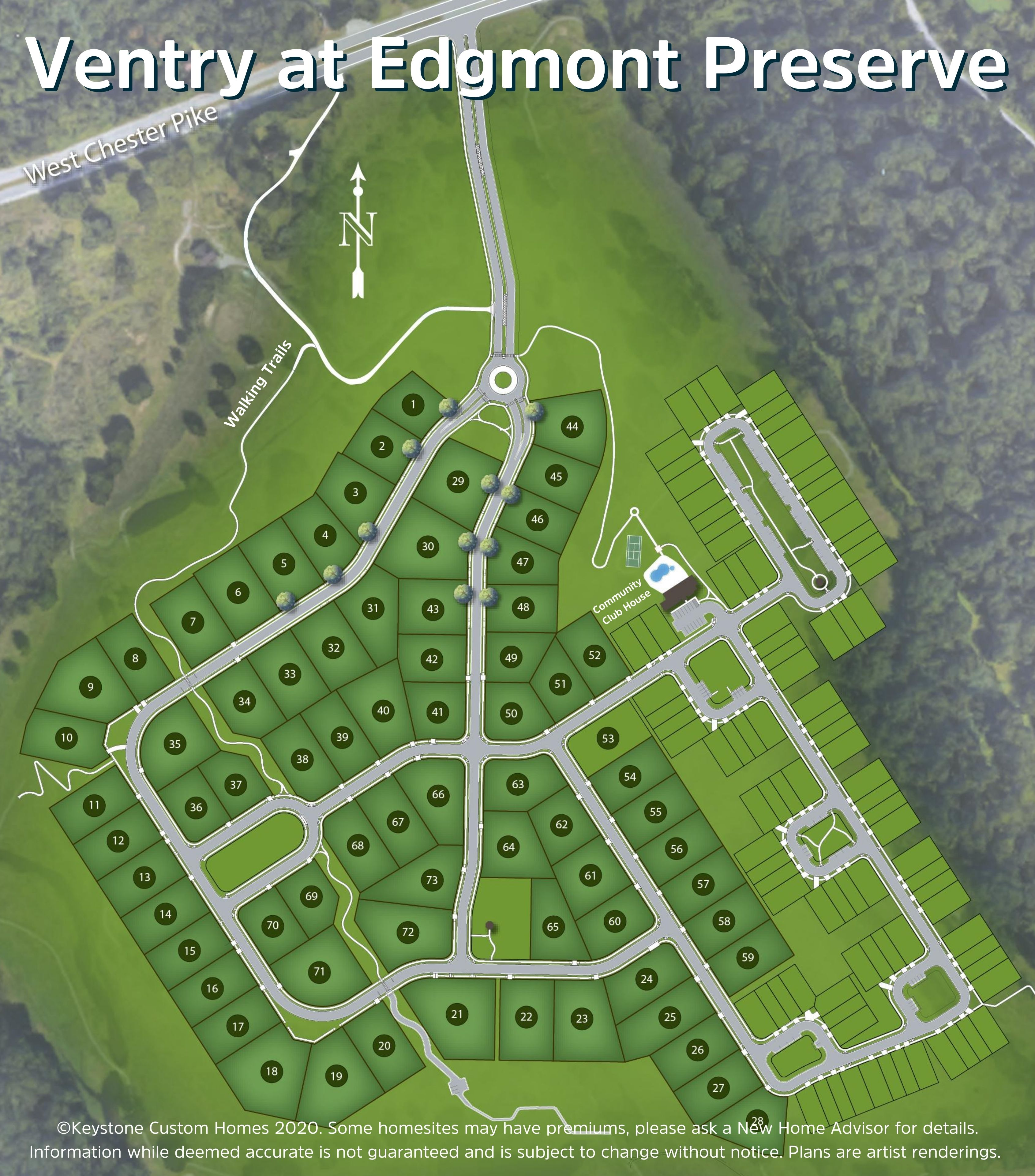 Ventry at Edgmont Preserve Lot Map Background