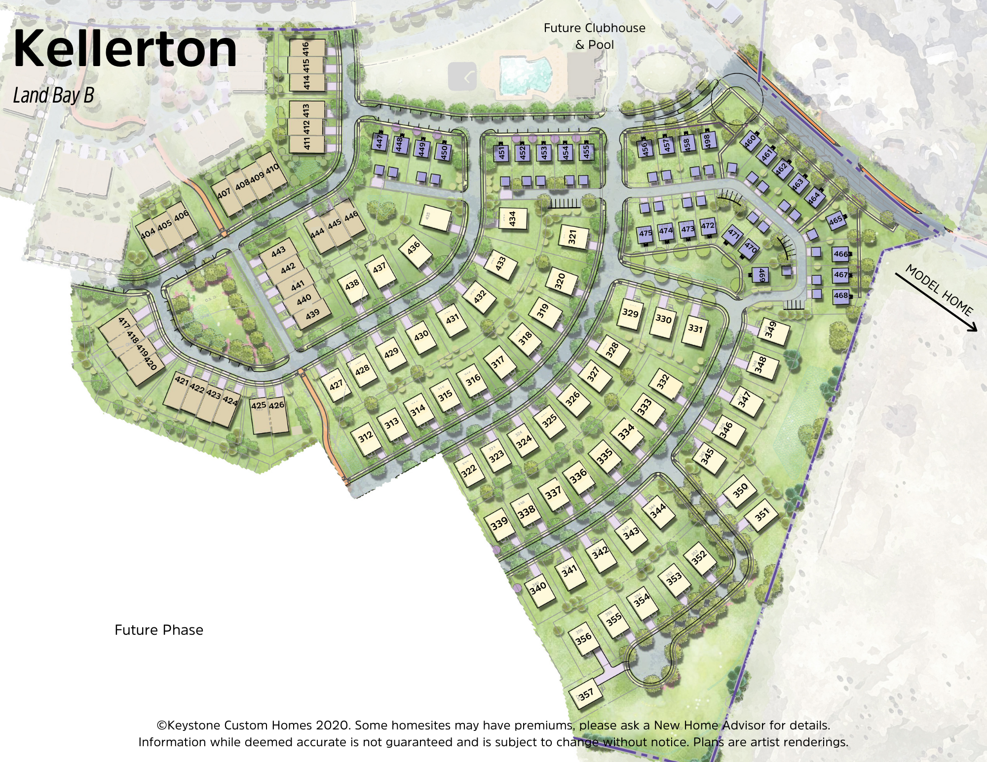 Kellerton Villas Lot Map Background