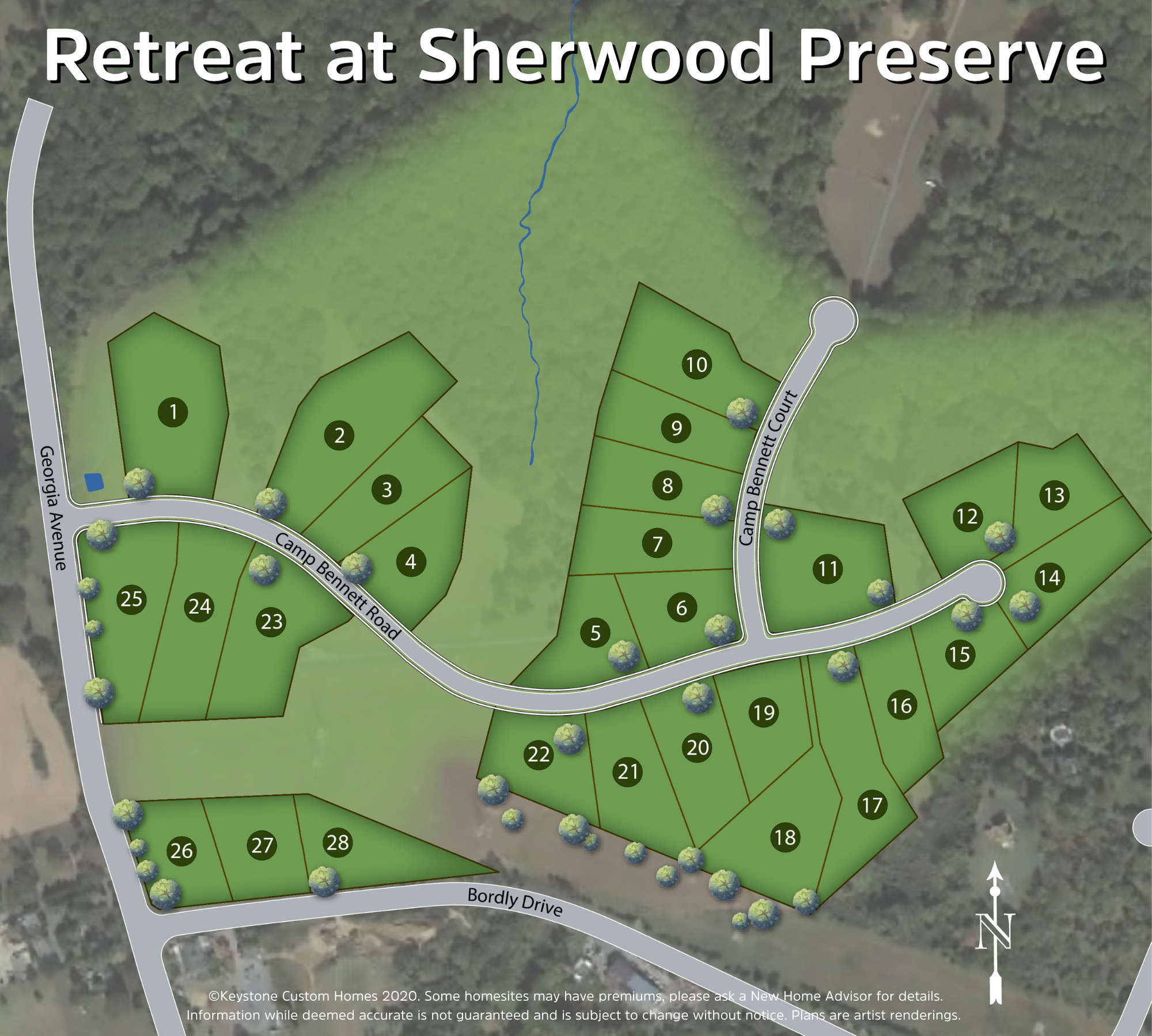 Retreat at Sherwood Preserve Lot Map Background