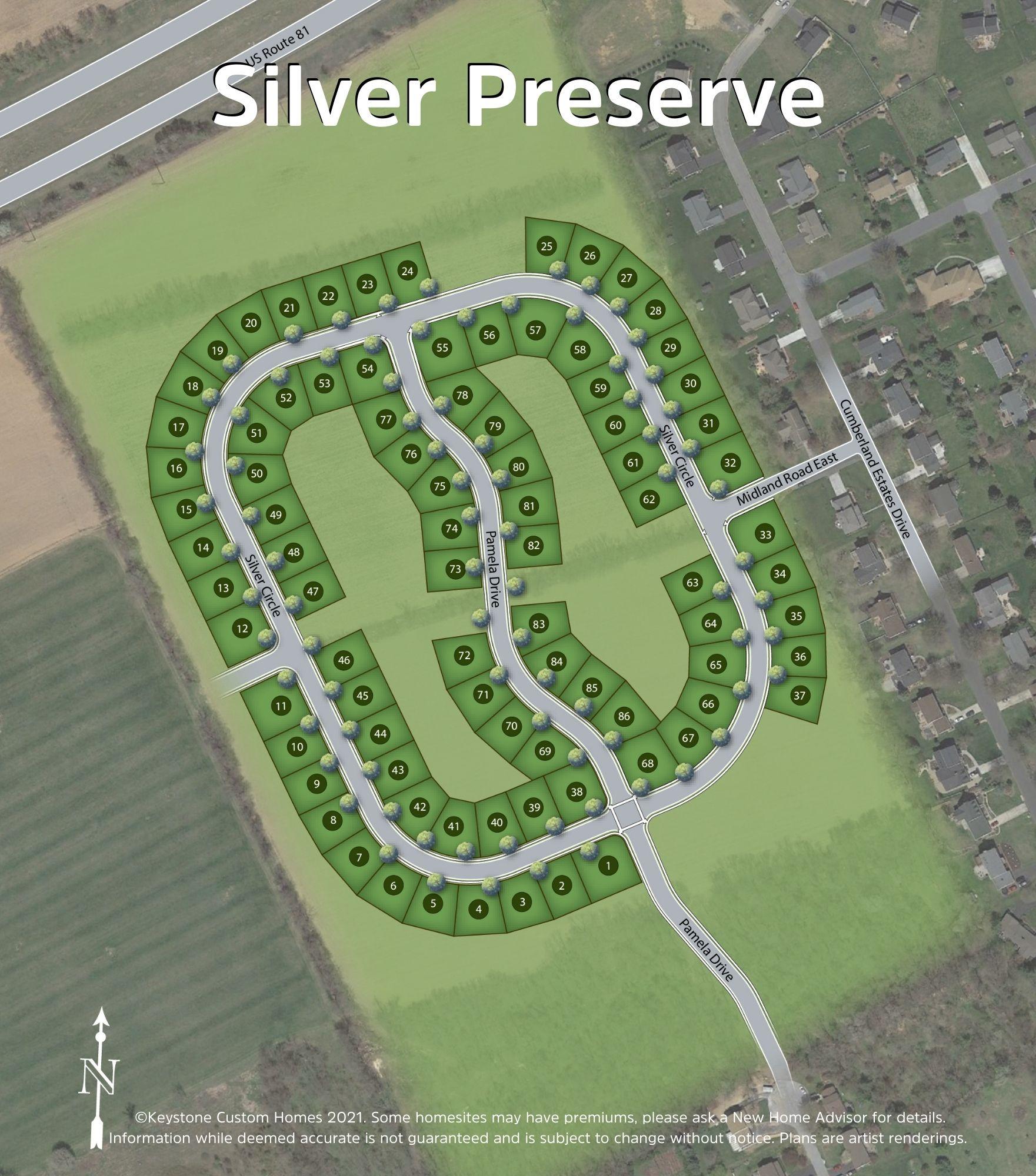 Silver Preserve Lot Map Background