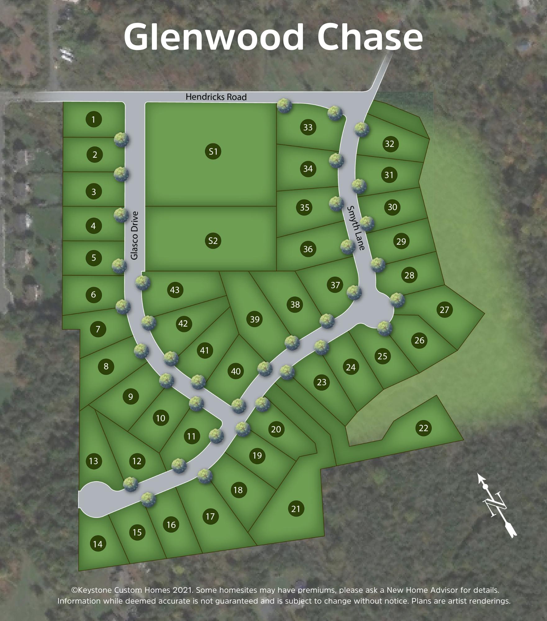 Glenwood Chase Lot Map Background