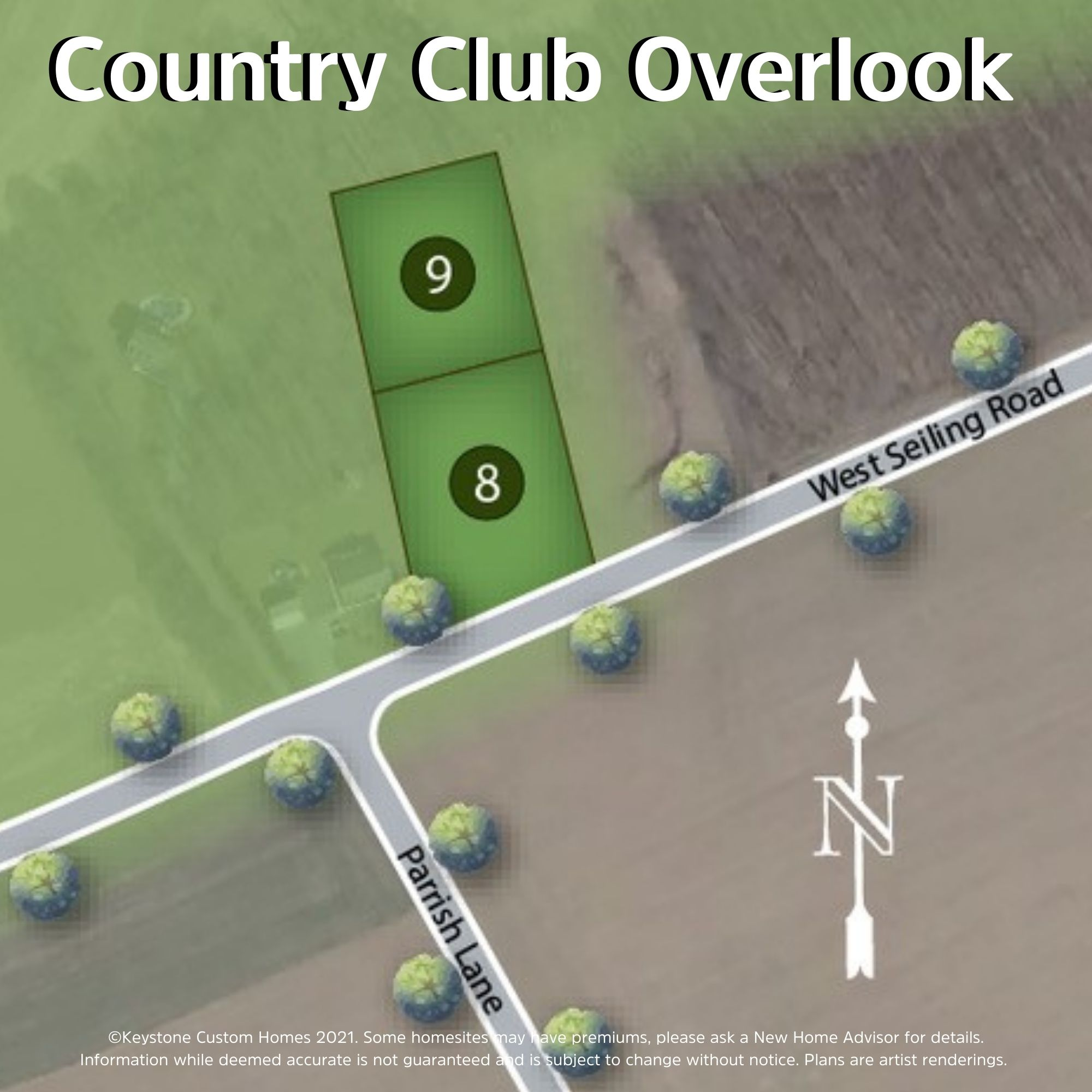 Country Club Overlook Lot Map Background